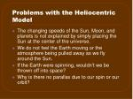 problems with the heliocentric model