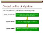 general outline of algorithm
