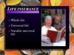 l ife insurance
