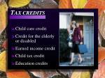 t ax credits