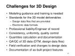 challenges for 3d design