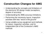 construction changes for amg