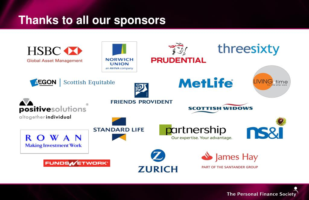 Thanks to all our sponsors
