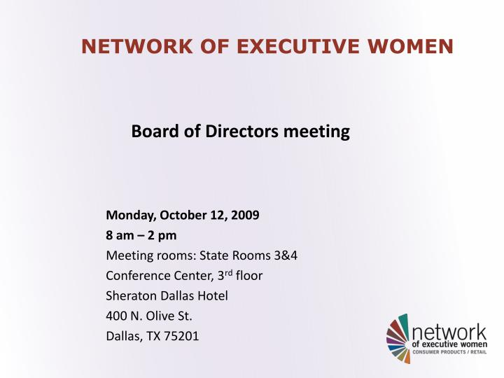 network of executive women n.