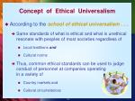 concept of ethical universalism
