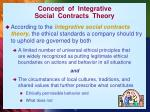 concept of integrative social contracts theory