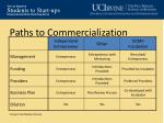 paths to commercialization