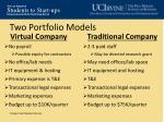 two portfolio models