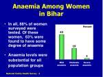 anaemia among women in bihar