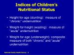 indices of children s nutritional status
