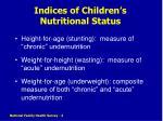indices of children s nutritional status