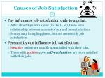 causes of job satisfaction
