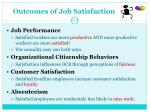 outcomes of job satisfaction