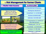 1 risk management for farmer clients