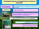 3 knowledge development and strengthening farmer clients and communities