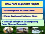baac plans significant projects