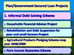 plan government secured loan projects