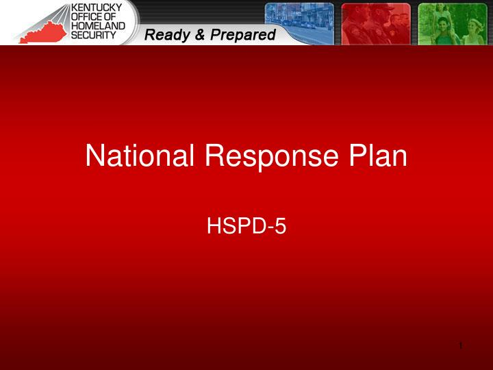 national response plan n.