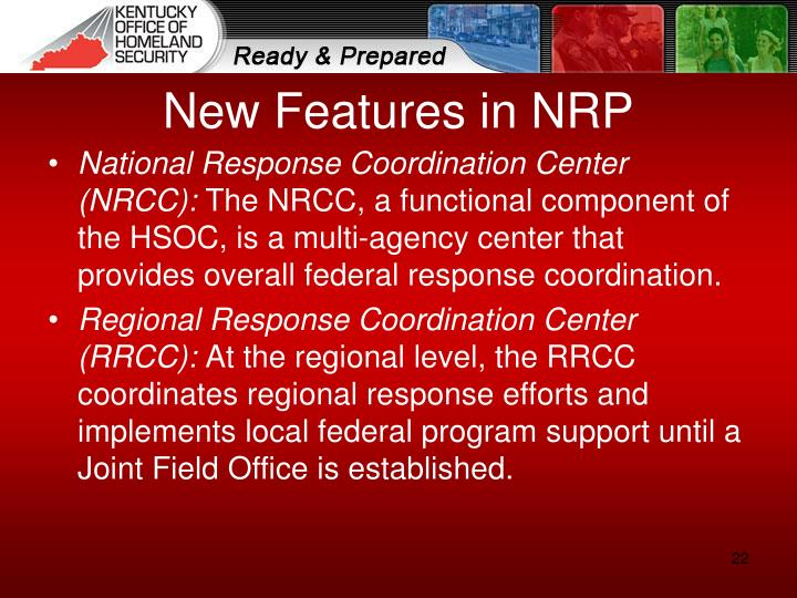 New Features in NRP