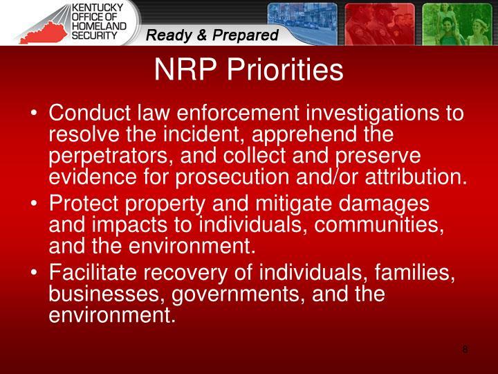 NRP Priorities