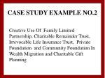 case study example no 2