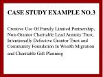 case study example no 3