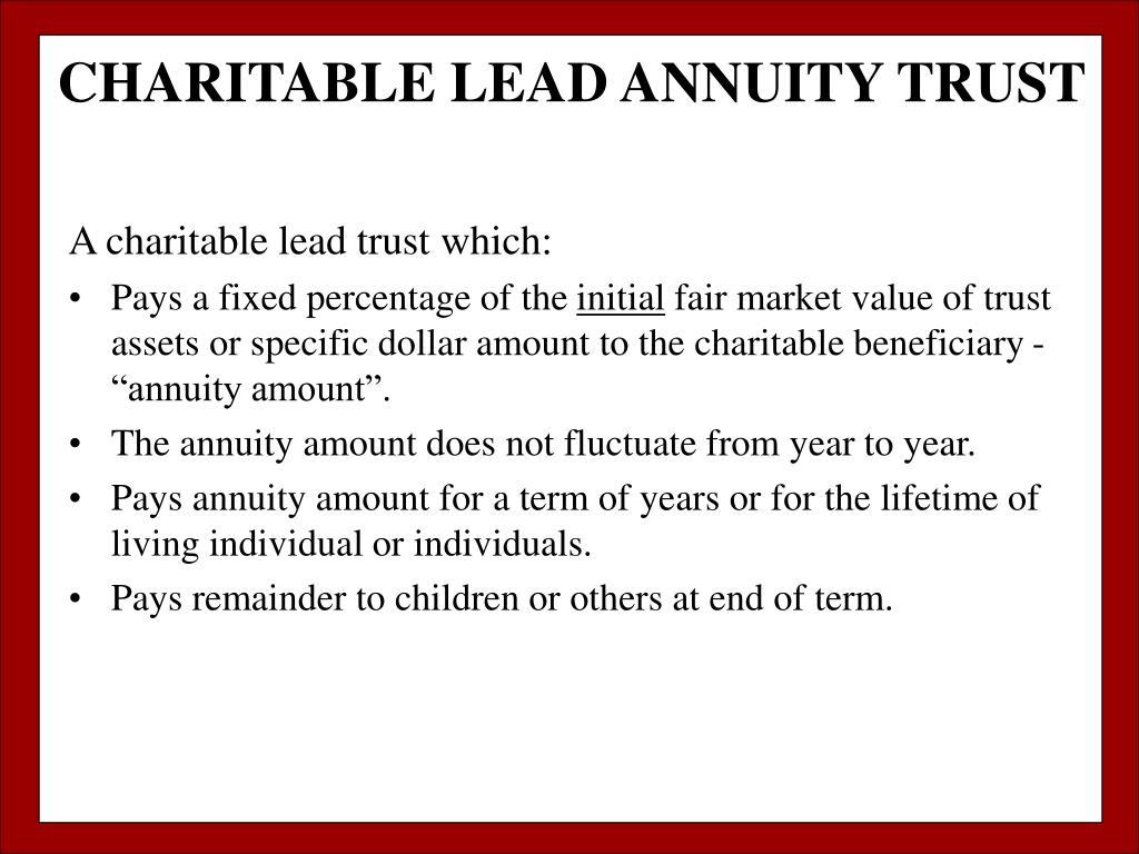 CHARITABLE LEAD ANNUITY TRUST