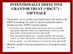 intentionally defective grantor trust idgt gift sale27