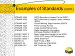 examples of standards cont