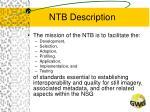 ntb description