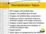 standardization topics