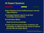 ai expert systems