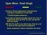 open mind push singh