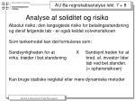analyse af soliditet og risiko1