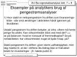 eksempler p analytikers brug af pengestr msanalyser