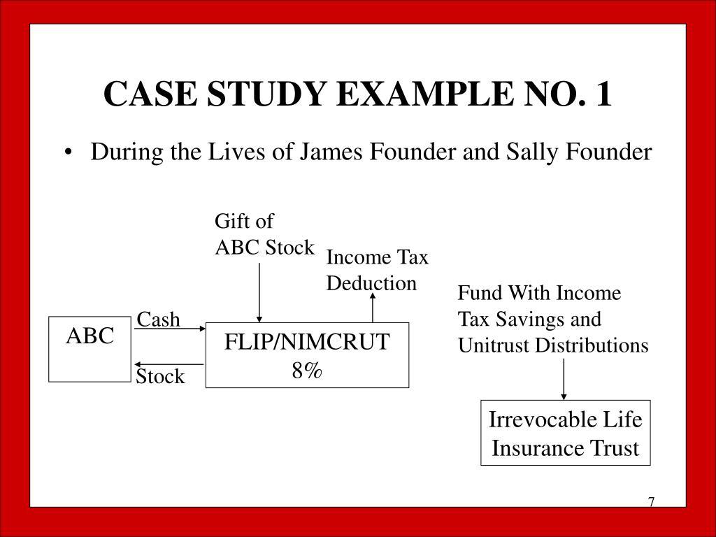 CASE STUDY EXAMPLE NO. 1