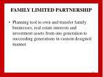 family limited partnership