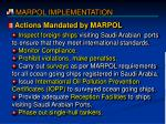 actions mandated by marpol