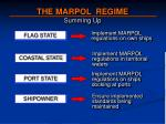 the marpol regime summing up