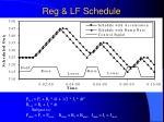 reg lf schedule