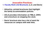 innovative practices 1 faculty work life brochures l a and davis
