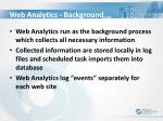 web analytics background