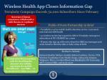 wireless health app closes information gap