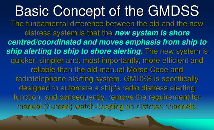 basic concept of the gmdss n.