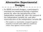 alternative experimental designs5
