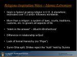 religious inspiration wave islamic extremism