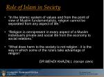 role of islam in society1