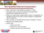 non qualified deferred compensation