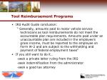tool reimbursement programs27