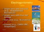 electrogoniometry types
